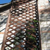 Деревянная садовая решётка (шпалера) своими руками: пошаговая фото инструкция с пояснениями