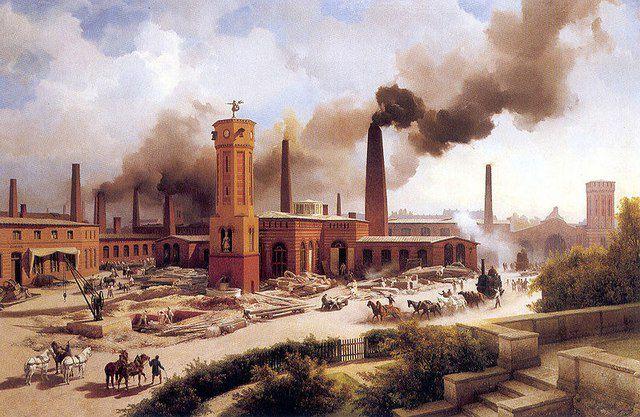 Растущие «как грибы» крупные промышленные производства и окружающие их города требовали огромного количества высокопрочных строительных материалов