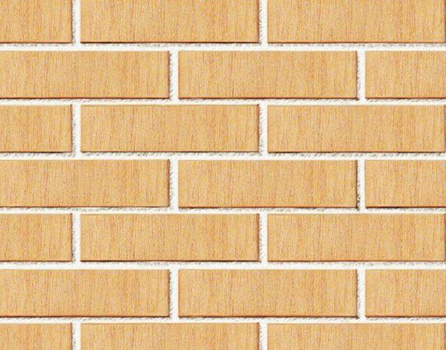Так будет выглядеть стена, облицованная клинкерным оттенка «ваниль»