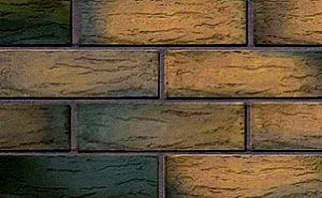 Облицовочный клинкерный кирпич «коричневый MIX рустик»