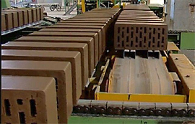 Эта же «лента», но уже после ее нарезки на отдельные блоки – сырые кирпичи заданных размеров