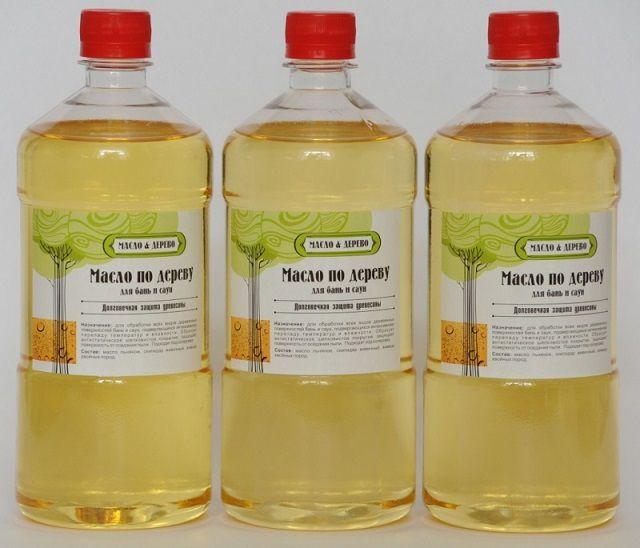 Специальное масло для обработки деревянной отделки в банях и саунах