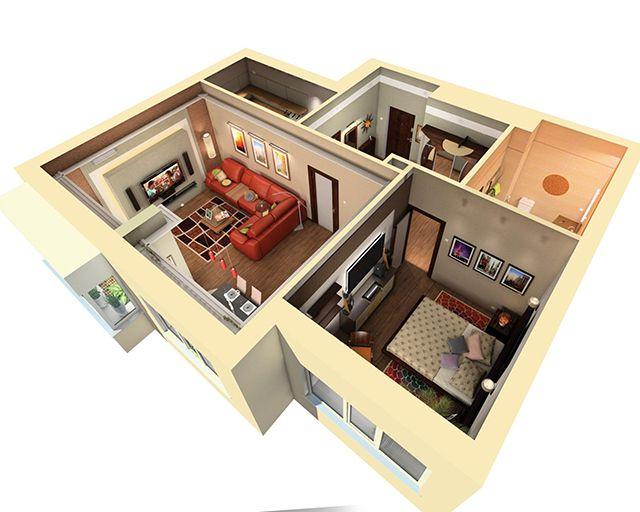 Один из вариантов визуализации дизайн-проекта квартиры