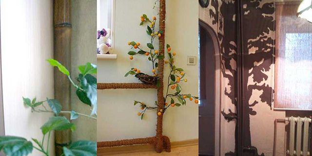 Стальные трубы стояков отопления при наличии воображения легко становятся элементом декора помещений