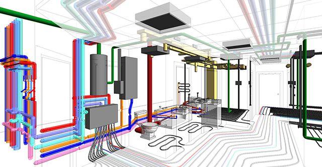Фрагмент инженерного обеспечения современной квартиры