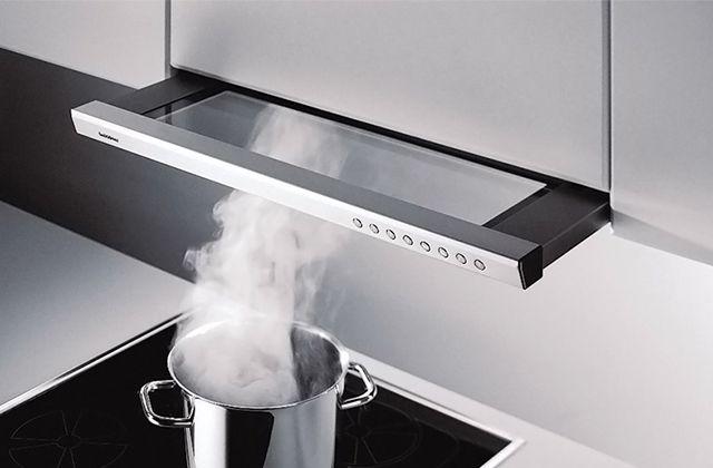 Работу кухонной вытяжки видно невооруженным взглядом