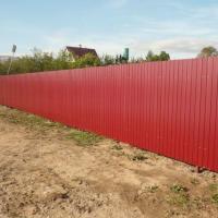 Как построить забор из профлиста своими руками: этапы подготовки и видео пример самостоятельного строительства забора из профлиста