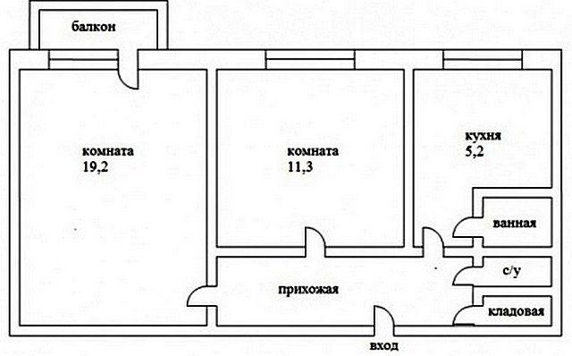 Квартира-«мини-улучшенка» до перепланировки