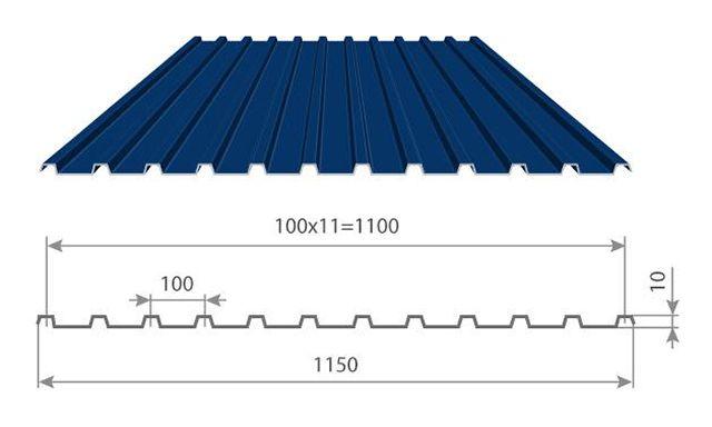 Профнастил С10-1100