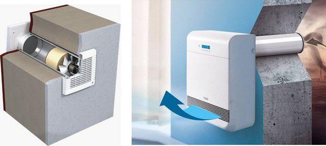 На помощь естественной вентиляции могут прийти отдельные приборы принудительной приточной – проветриватели или бризеры