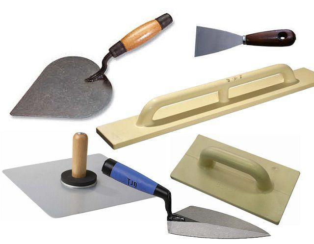 Базовый набор инструментов для оштукатуривания стен