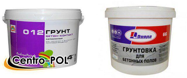 Для грунтования гладких бетонных стен лучшим вариантом станет состав типа «бетоноконтакт»