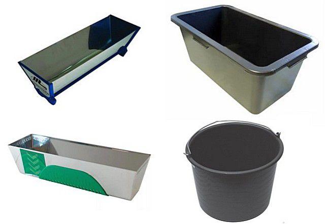 Обратите внимание на удобство и чистоту применяемых емкостей для замешивания раствора и для проведения шпатлёвочных работ