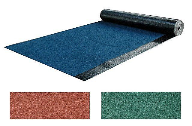 Верхней минеральной посыпке «еврорубероида» могут придаваться различные оттенки – можно подобрать материал в тон к задуманному оформлению дома