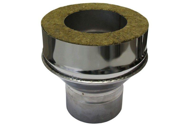 Специальный переходник, обеспечивающий переход с одностенной моно-трубы на термоизолированный сэндвич.