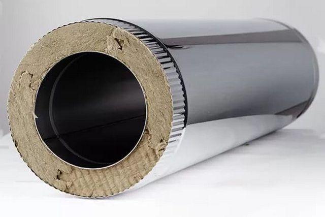 В качестве термоизоляции должна использоваться только базальтовая вата высокой плотности