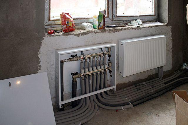 Пример подключения радиаторов через коллектор