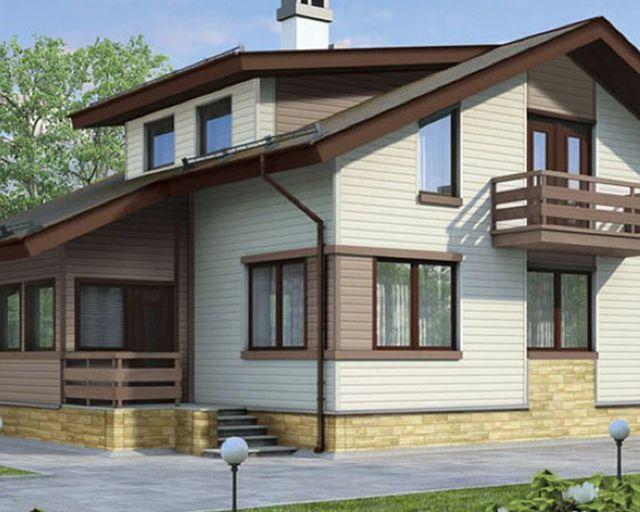 Правильное комбинирование цвета сайдинга в отделке дома подчеркивает его индивидуальность
