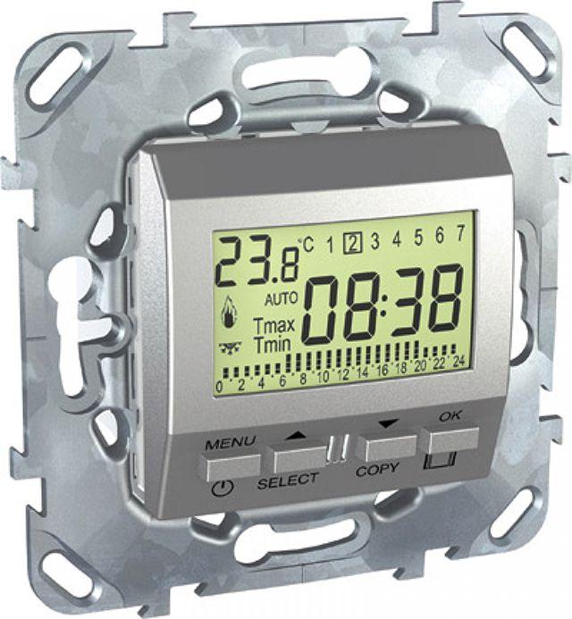 Программируемый электронный термостат может устанавливаться в стандартный подрозетник