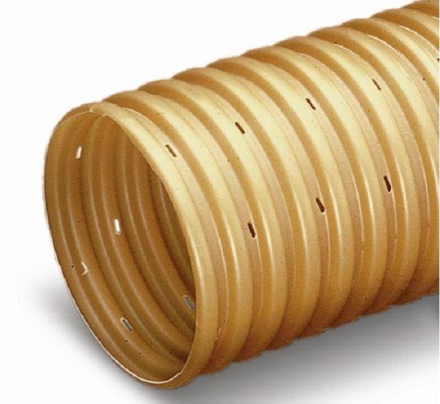 Перфорированная гофрированная труба – в наше время именно им чаще всего отдается предпочтение при обустройстве дренажной системы