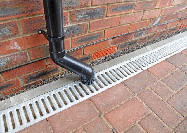 Эффективным средством отвода воды от фундамента является ливневая канализация