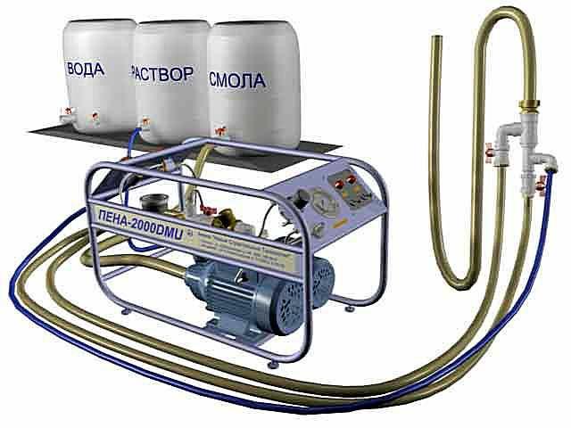 Пеноизол производится из нескольких исходных компонентов с помощью специальных установок непосредственно на месте проведения термоизоляционных работ.