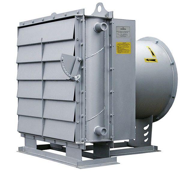 Воздушно-отопительные агрегаты российского производится линейки АО способны работать и на воде, и на паре.