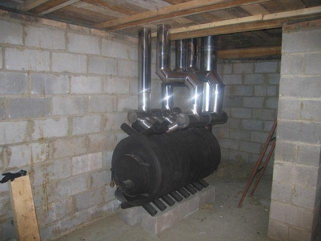 Печь булерьян –ее характерные теплообменники как нельзя лучше подходят для систем воздушного отопления