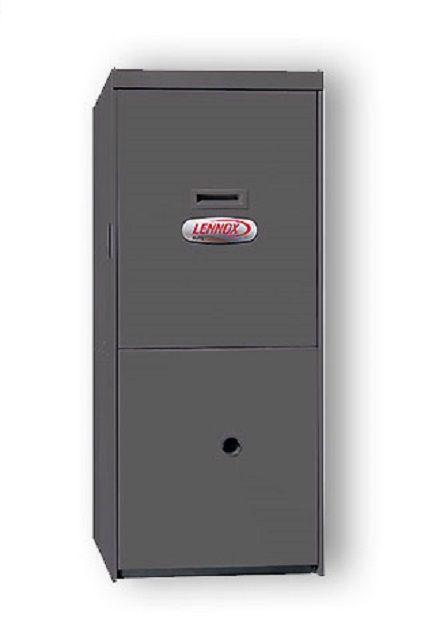 Так выглядит газовый котел для воздушного отопления «Lennox G61MPVT-60C-110». Но за скромной внешностью кроются большие возможности