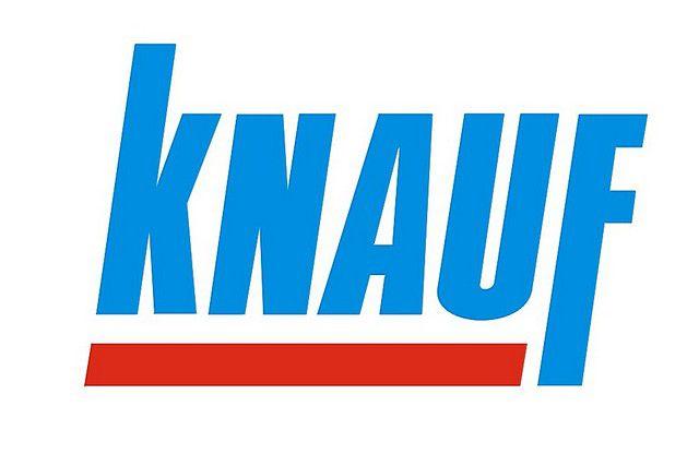 Хорошо узнаваемый логотип торговой марки «Кнауф».