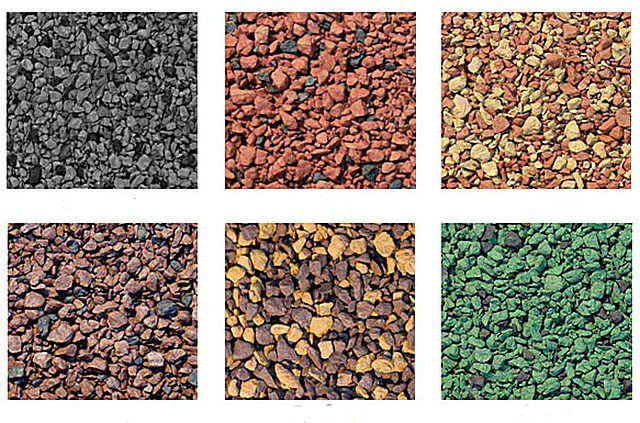 У ведущих производителей разнообразие вариантов минерального покрытия поверхности черепицы – очень велико