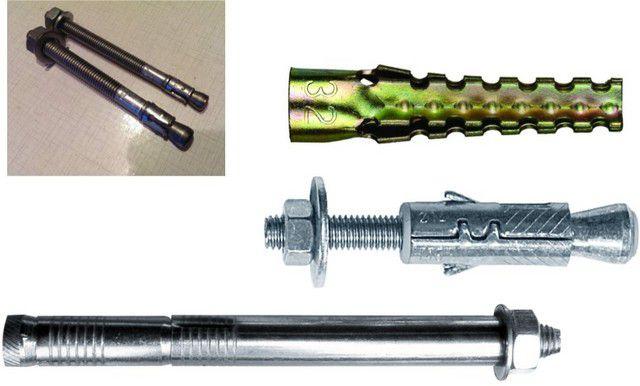 Анкеры и специальный дюбель, которыми можно осуществить крепление к газобетону.