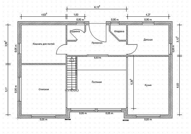 План дома поможет в проведении расчётов. Если дом имеет несколько этажей, то для каждого из них вычисления проводятся поочередно