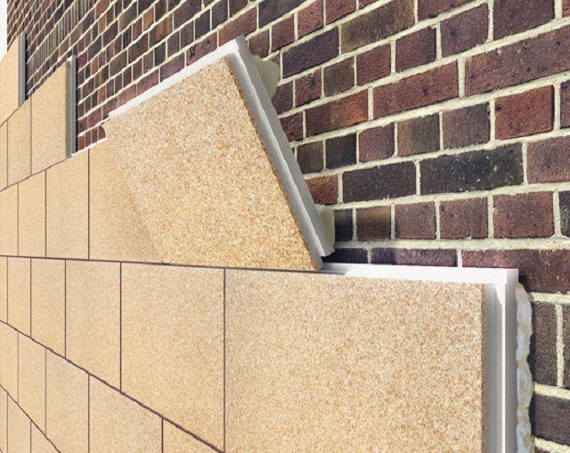 Облицовка кирпичной фасадной стены термопанелями на пенополистирольной основе