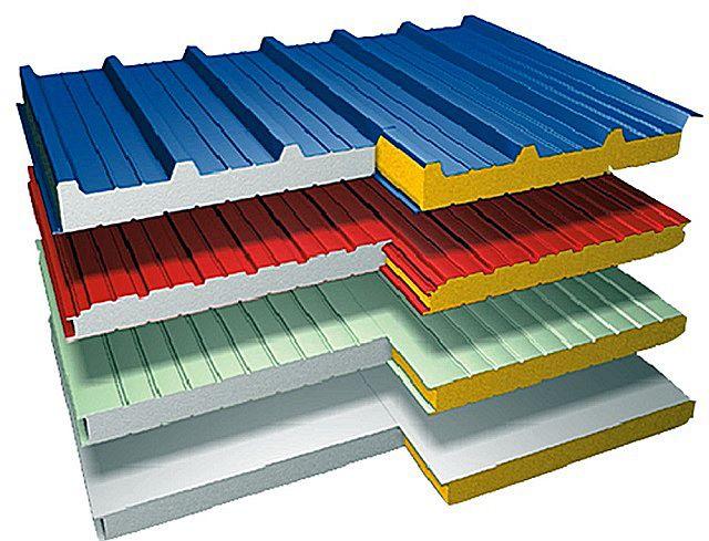 Сэндвич-панели порой могут выполнять и несущую функцию, и поэтому могут применяться для возведения стен и перегородок