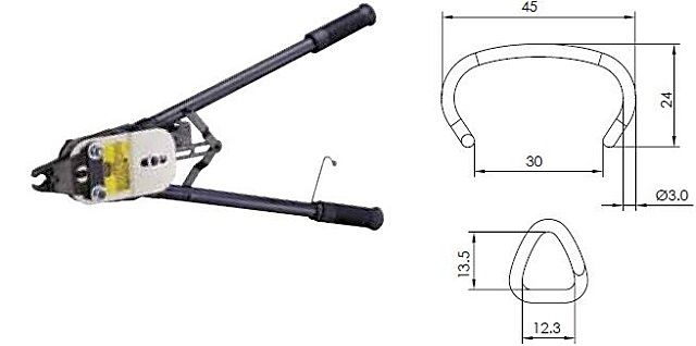 Механический степлер, очень удобный для монтажа габионных конструкций