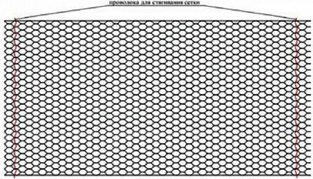 Цилиндрический габион в разобранном виде