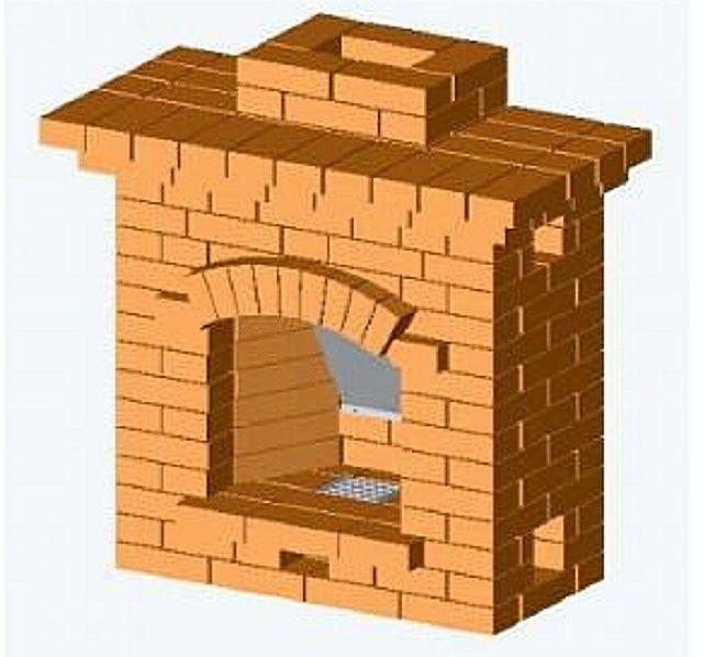 Один из самых простых каминов, имеющий вместе с тем весьма неплохие показатели тепловой эффективности