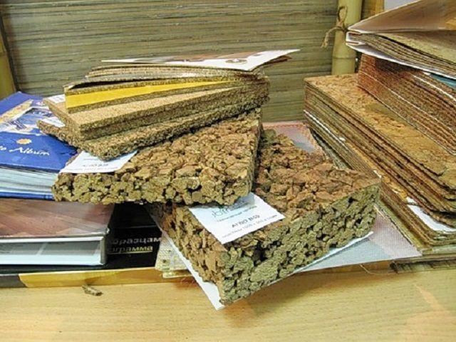 Толстые плиты пробкового агломерата могут применяться для утепления полов по лагам