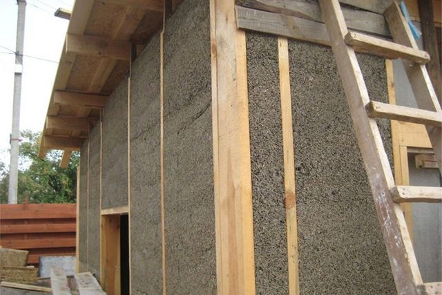 Каркасный дом из керамзитобетона как сделать цементный раствор для печки