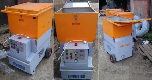 Профессиональная установка для напыления эковаты по «мокрой» технологии