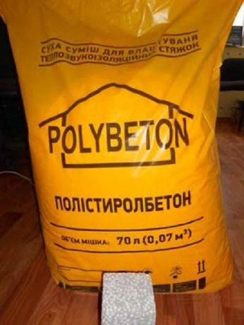 Готовая сухая строительная смесь для изготовления полистиролбетона
