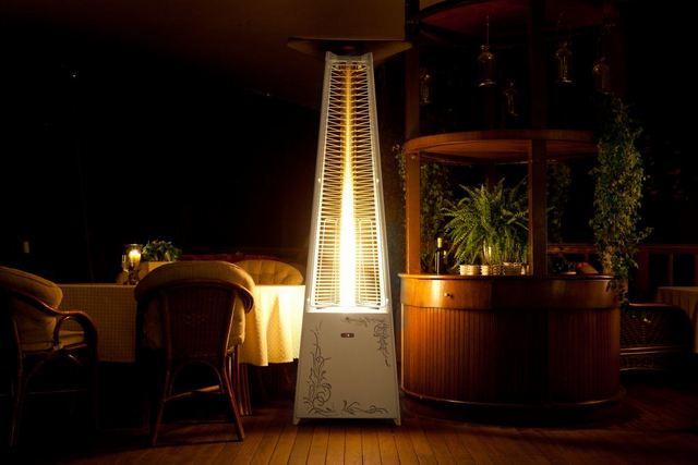 А в этой модели горелки с инфракрасным излучателем разместились в виде вертикального столба.