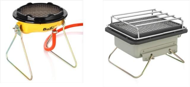 Многие модели компактных газовых обогревателей мановение руки быстро превращаются в полноценную плитку для кипячения воды или приготовления пищи