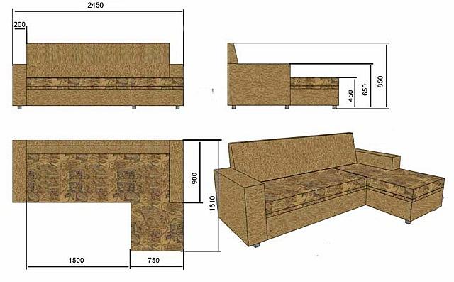 Показаны базовые размеры, но их можно подкорректировать с учетом особенностей места установки и личных предпочтений мастера