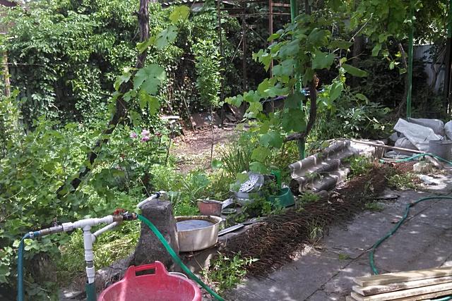 Он же со стороны точки водозабора – дворового водопроводного крана