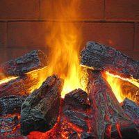 Электрический камин с эффектом живого пламени