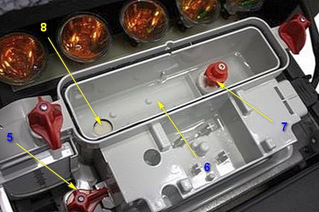 Блок парогенератора, со снятыми распылителем пара и емкостью для воды