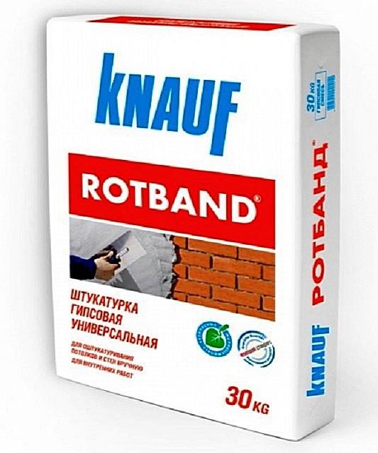 Одна из самых популярных у строителей гипсовых шпаклёвок – «Knauf Rotband»