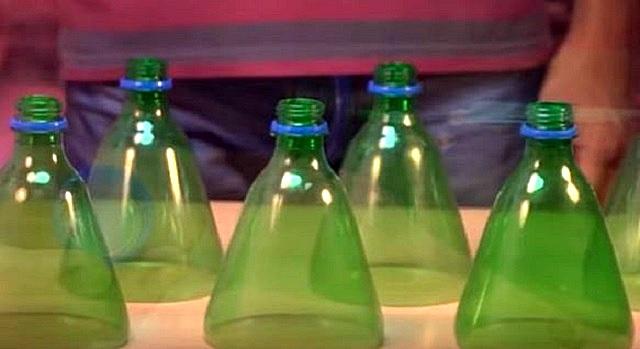 Подготовлены отрезанные горлышки бутылок – они должны быть одинаковыми по высоте.